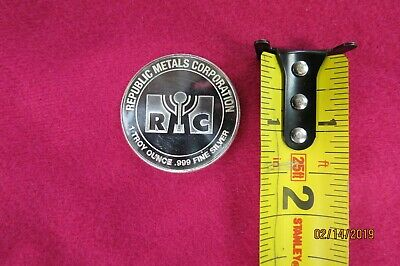 Republic Metals Corp 1 Troy Ounce .999 Fine Silver Round