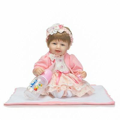 17'' Likelife Toddler Reborn Baby Girl Doll Toy Vinyl Newborn Accompany Gifts UK