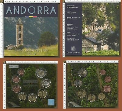 Andorra 2016 - KMS Coin Set 1 cent - 2 euro - FOLDER BU € 3,88 - 35.000 pezzi