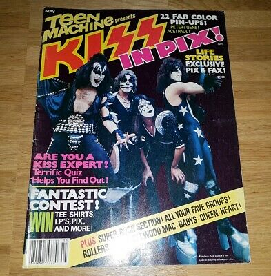 """KISS - Special """"Teen Machine presents KISS IN PIX"""", 1978, complete with poster"""
