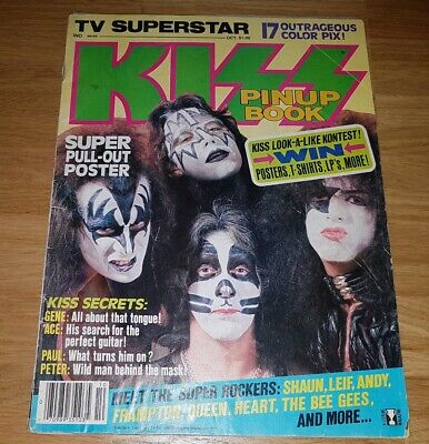 """KISS - Special """"TV Superstar KISS Pin-Up Book"""", U.S.A. 1978 complete with poster"""