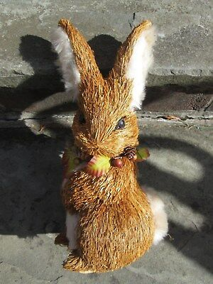 Straw Rabbit Bunny Animal Large Figure Easter Hare Cute Spring Decor New Fluff