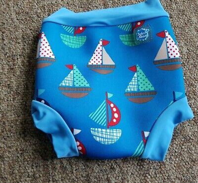 Splash About blue sail boat design Happy Nappy size large