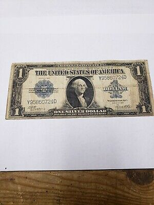 United States 1923 one Dollar Silver Certificate Large Note