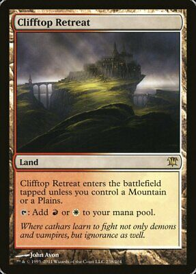 1X Clifftop Retreat - Innistrad - Magic the Gathering TCG Land Red White Rare LP