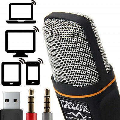 ZaxSound Professional Cardioid Condenser Microphone for PC, Laptop, iPhone, and