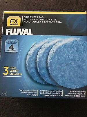Fluval FX5 Fine Filter Polishing Pad 3-Pack Filters Fish Aquariums Pet Supplies