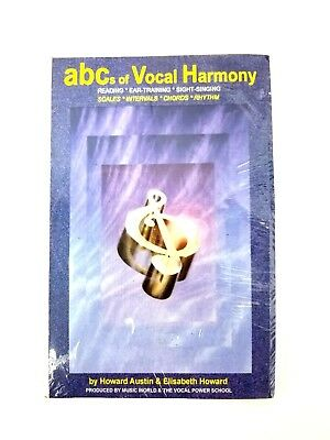 ABCs of Vocal Harmony Book and 4 CDs Reading Ear Training Sight Singing H Austin