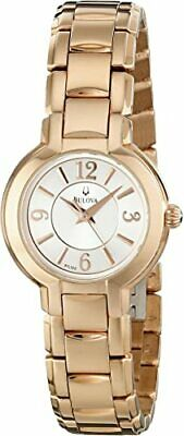 Bulova 97L122 Women's Silver Dial Gold-Tone Stainless Steel 27mm Quartz Watch