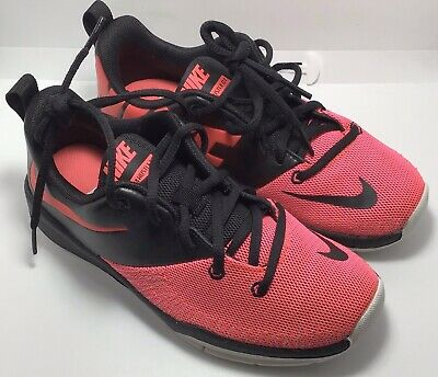 f9a3f21cb8 NIKE TEAM HUSTLE D 7 Low (GS) Youth Size 4 Black/Racer Pink-white ...