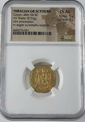 Coson, After 54 BC Thracian Or Scythian NGC AU55
