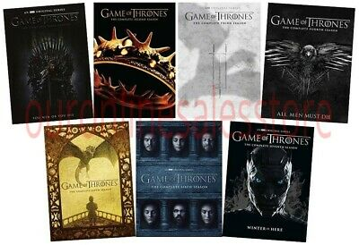 Game of Thrones ALL Season 1-7 Complete DVD Set DB Weiss David Benioff Video Lot
