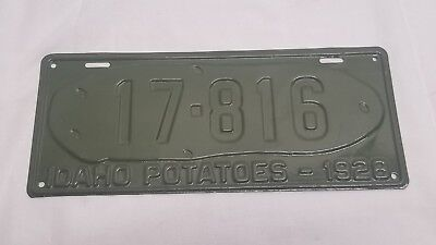 1928 Idaho License Plate 17-816 License Plate Potato Spud Media Blasted & Paint