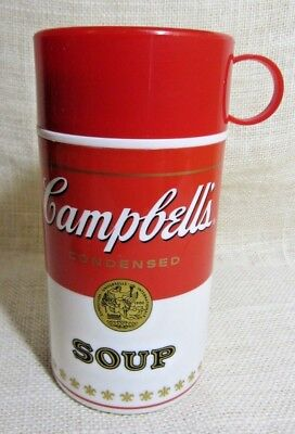 Vintage Campbell's Condensed Soup Plastic Lunch Thermos Soup-Cantainer 1998