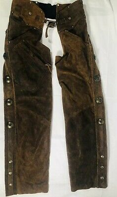 Harley Davidson Heritage Brown Leather Chaps -  Size Mens Medium MADE IN USA