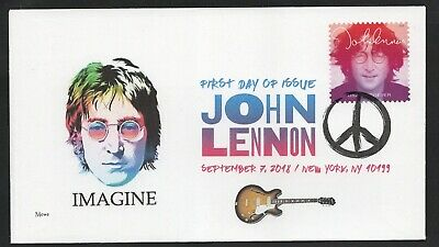 JOHN LENNON ** FIRST DAY COVER ** UNITED STATES issue of 9/7/2018