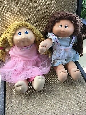 Two Cabbage Patch Kids - 1984 & 1985 - Vintage