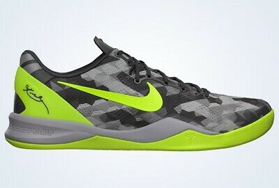official photos 82f60 1524f Nike Kobe Bryant 8 IIIV Grey Volt Basketball Shoes - 10.5