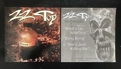 "VINTAGE 1996- ZZ Top - RHYTHEEN 12""x12"" 2-Sided Promo Poster Flat MINT"