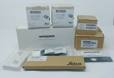 Leica Leitz Microscope Parts Lot with Adapters Filters Filterslide CoolClips