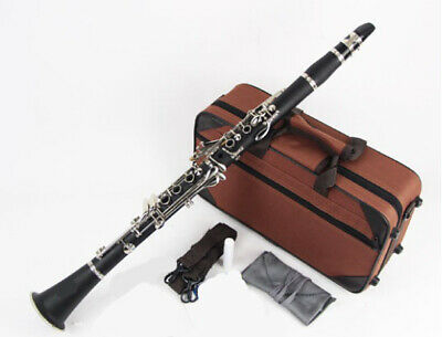 D18 17 Keys Bb Clarinet Black Musical Instrument With Case Accessories O