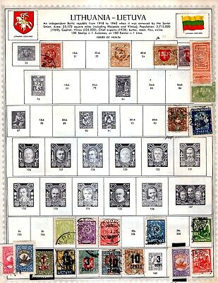 Lithuania  From Huge 26 Vol Collection