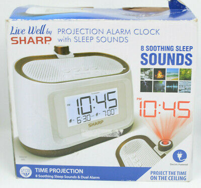 SHARP PROJECTION ALARM Clock with Soothing Sleep Sounds - $17 99