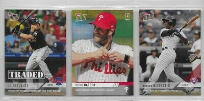 JT REALMUTO /361 ANDREW McCUTCHEN /279 2018 2019 Topps Now PHILLIES TRADED LOT