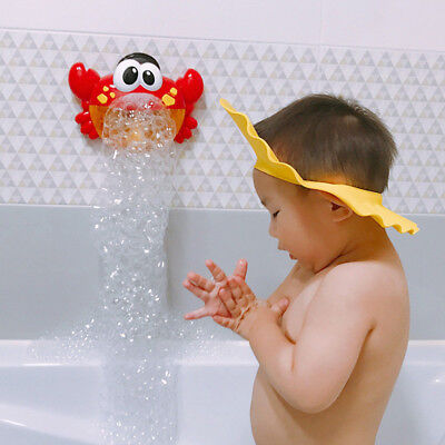 Bubble Machine Big Crab Automatic Bubble Maker Blower Music Bath Toy For Baby US