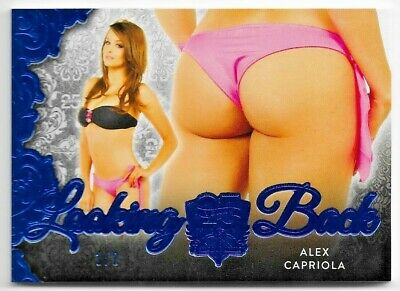 2019 Benchwarmer 25 Years Alex Capriola Blue Looking Back Butt Card /2 1/2 Hot!