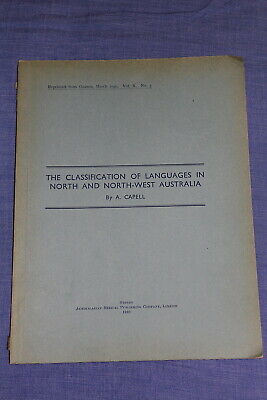 Classification of Languages in North and North-West Australia Aboriginal 1940