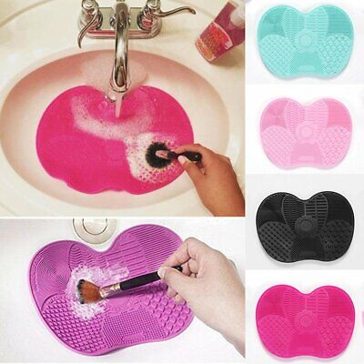 Silicone Butterfly Makeup Brush Cleaner Soft Pad Washing Cleaning Scrubber Board