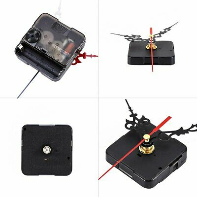 Black Mute Quartz Wall Clock Repair Parts Hands Tool Movement Mechanism DIY