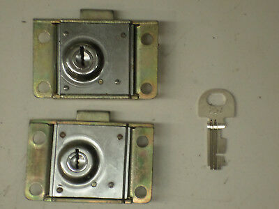 2 RARE Western Electric Payphone Vault & Housing Locks Pay Phone Telephone Parts