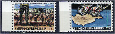 Cyprus 1984 10Th Ann. Of Turkish Intervention. A Set Of Two Mnh Stamps
