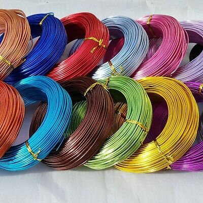Florist Wire Colored Coated 12 gauge /Please Choose Qty and Colour