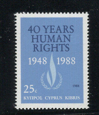 Cyprus 1988 Human Rights Declaration . A Set Of One Mnh Stamp.