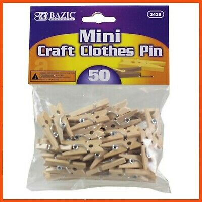 24 x MINI WOODEN CRAFT CLOTHES PEGS 50Pk | Photograph Line Wedding Baby Shower