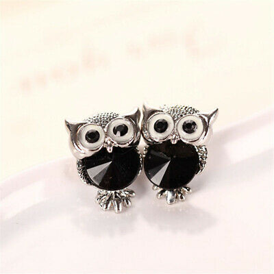 Fashion Lovely Crystal Owl Girls Earrings For Women Vintage Animal Earrings FY
