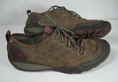 34c1121887c4 MERRELL Women s Size 8 (US) Stone Brown Leather Oxfords Lace Up Shoes Hiking