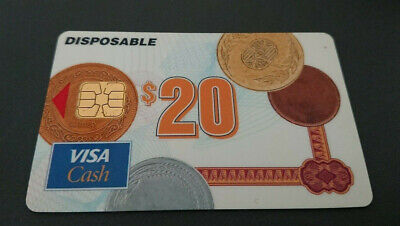 1996 $20 Visa Cash Card - Anz Bank In House Trial - New Zealand - Rare - Mint