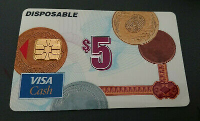 1996 $5 Visa Cash Card - Westpac Bank In House Trial - New Zealand - Rare - Mint