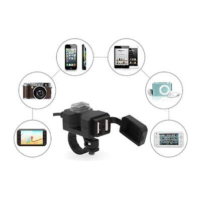 Waterproof Dual USB 9-90V  Motorcycle Handlebar Charger Socket w/ Switch & Mount