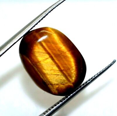 "Ggl Certified 7.80 Ct Natural Cabochon Oval Cut Tiger Eye Valentine""S Offer"