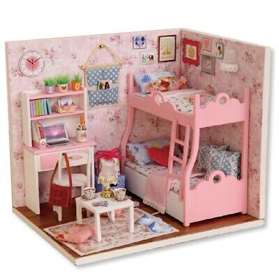 A DIY Wooden Doll House Furniture Handcraft Miniature Box Kit - Blossom Age