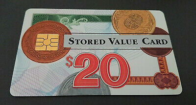 1995 $20 Visa Cash Card - Bank Of New Zealand In House Trial  - Rare - Mint