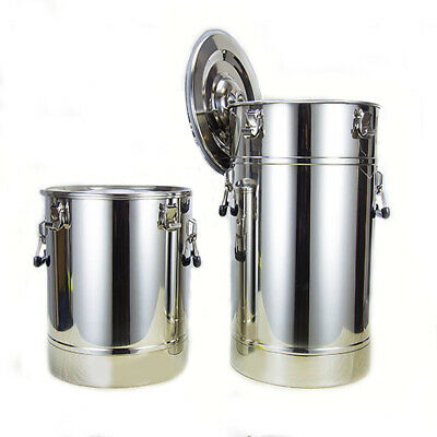 25-175L Ménage 304 Inox Distillateur Alambic Aliments Stockage Baril Alimentaire