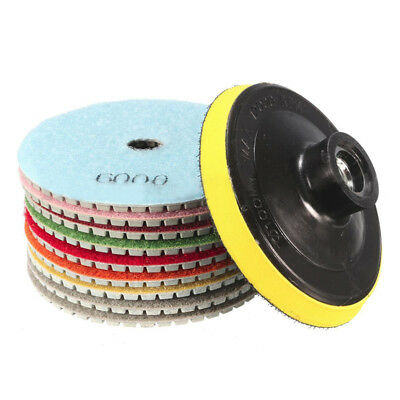 A# Pads For Granite Wet Inch Polishing Diamond Dry Marble Stone 4 Kit Concrete