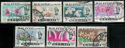 Lot 5374  - Malaya (Kedah) 1965  used Orchids stamp set