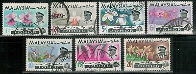 Lot 5376  - Malaya (Johore) 1965  used Orchids stamp set